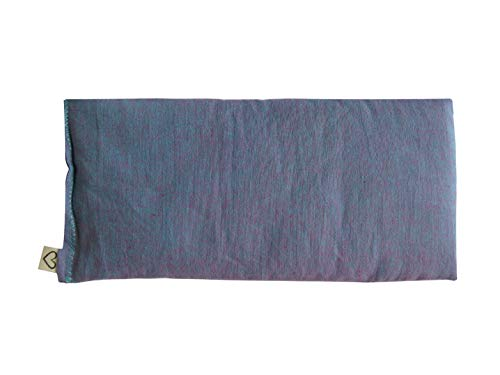 Peacegoods SCENTED Lavender Flax Seed Eye Pillow - 4 x 8.5 - Soft & Soothing Cotton - Naturally Calming Colors - purple lilac