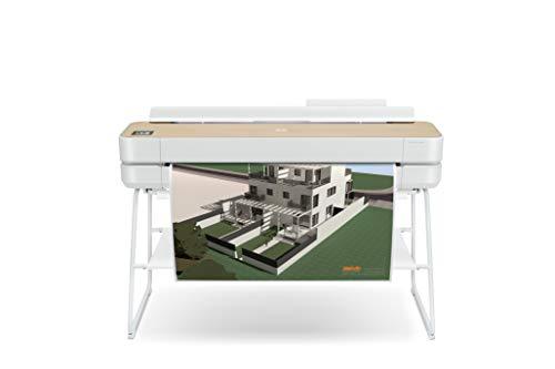 "Hp designjet studio wood large format wireless plotter printer - 36"", with high-tech wood design (5hb14a)"