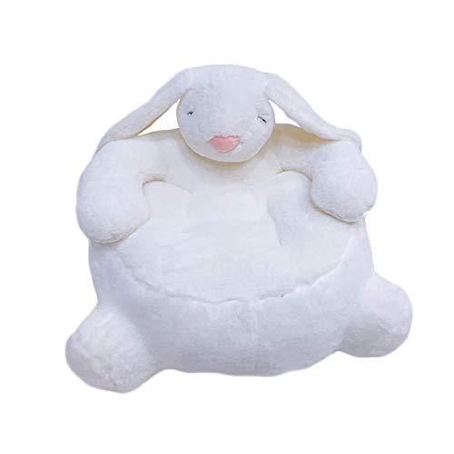 Sofá de bebé Sillón de Animales Asiento de Apoyo Aprendizaje Sentado Cojín de Silla Suave Regalo de bebé (Conejo Blanco)