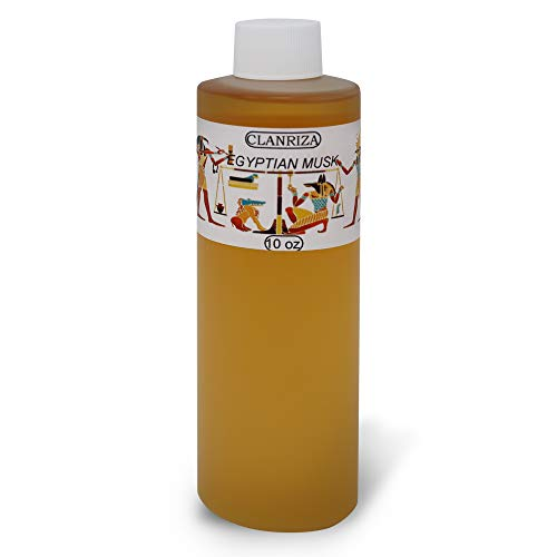 CLANRIZA Egyptian Musk 10 oz Body Oil, Natural Fragrance - Aromatherapy Scented Oil