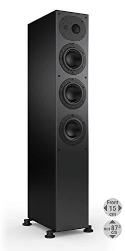 Nubert nuLine 244 Standlautsprecher | Lautsprecher für Stereo | Heimkino & HiFi Qualität auf hohem Niveau | Passive Standbox mit 2.5 Wege Technik Made in Germany | Kompakte Standbox Schwarz | 1 Stück