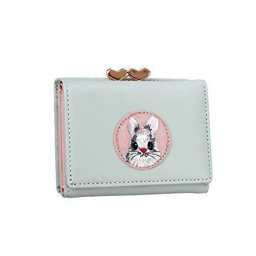 JIUFENG Women's Short Wallet Multi Purpose Purses Animal Embroidered...