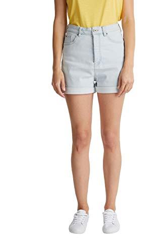 edc by ESPRIT Damen 040CC1C303 Jeans-Shorts, 904/BLUE Bleached, 30