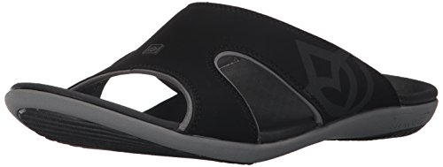 Spenco Men's Kholo Slide Sandal, Carbon/Pewter, 8 M