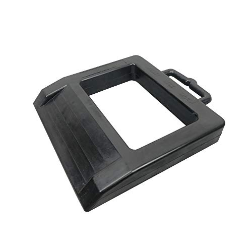 "ROBLOCK Pallet Jack Rubber Chock Heavy Duty Pallet Truck Chock Jack Stopper 14.2"" Length x 11.2"" Width x 2"" Height (1 Pack Black)"