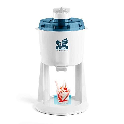 Eismaschine 1200 ml Eiscreme Maschine Speiseeismaschine Softeis (Eisbereiter, Speiseeis Bereiter, Sorbet, Frozen Joghurt, Weiß)