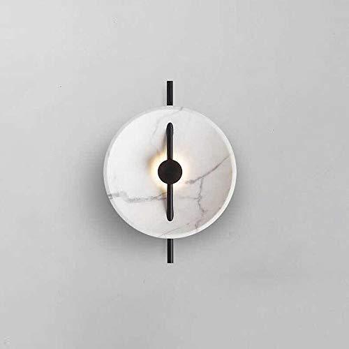 Yangmanini Personalidad Moderno De La Pared LED De Mármol Arte Minimalista De La Lámpara De Pared De La Sala Creativa LED De Pared Villa Lámpara De Noche del Diseñador Dormitorio (35 * 40cm)