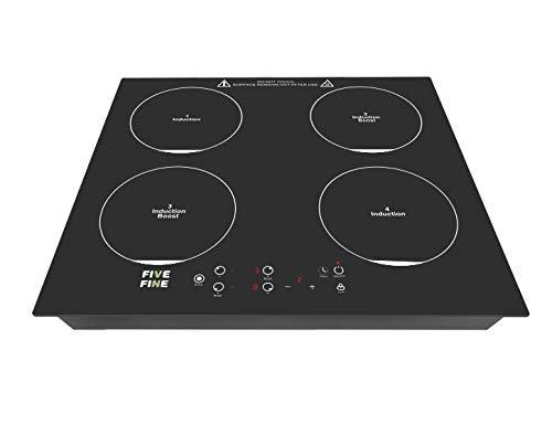 Placa de inducción de 4 placas, control táctil de cocina...