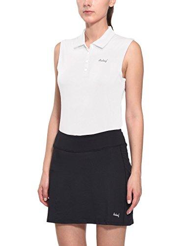BALEAF Women's Golf Tennis Sleeveless Polo Shirts Quick Dry UPF 50+ White Size M