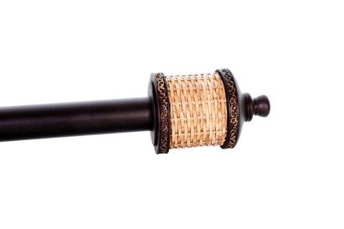 Elegant Home Fashions Elite Hardware Tahiti Ajustable Ventana Rod