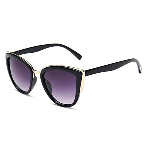 YTYASO Gafas De Sol Ojo De Gato Gafas De Sol De Moda Mujer Leopardo Cateyes Negro Degradado