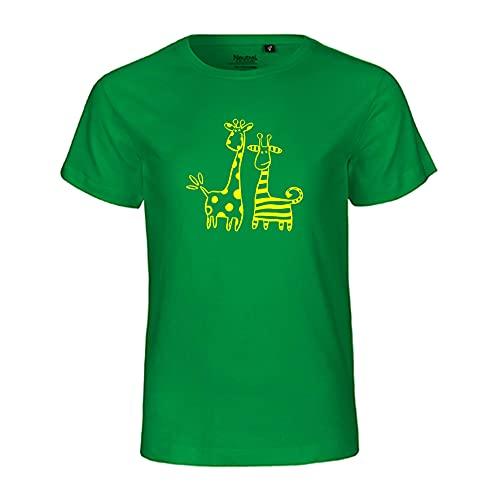 RaketeBerlin Kinder T-Shirt | Motiv'Giraffen' | FairTrade zertifiziert | 100% reinste Bio-Baumwolle | Größen 92-158 | casual | rundhals | verschiedene Farben