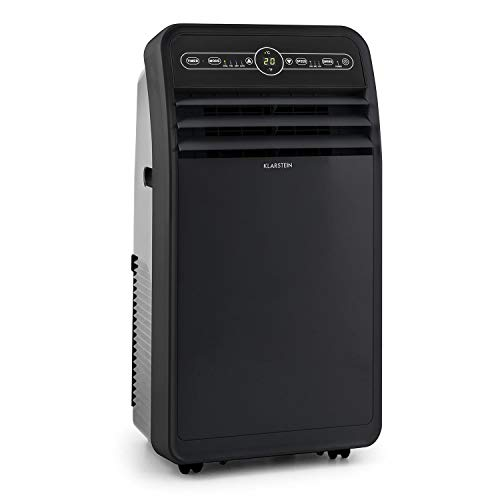 Klarstein Metrobreeze New York 7k - Aire acondicionado portátil 3 en 1, Humidificador de aire, Ventilador, 7.000 BTU/2,1 kW, 800 W de potencia, Eficiencia energética A, Temporizador, LED, Negro