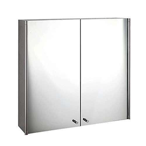 Armadietti a specchio Mobili da Bagno Mobiletto a Specchio per Il Bagno Mobile con Doppia Anta a Specchio Multistrato Armadio in Acciaio Inossidabile, Impermeabile, a Prova di umidità