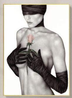 DIY Maluj według numerów - - Portret-kobieta-artystyczne-ciało - lniane płótno akrylowe - farbami akrylowymi - 40x50cm(Bezszkieletowy)