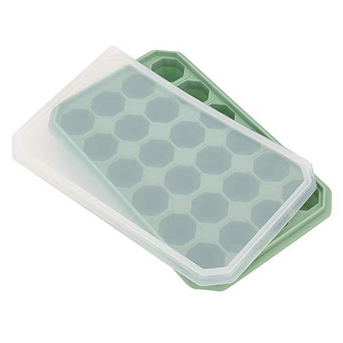 con tapa Bandeja para hielo Molde para hielo blando para yogur para barra(Bamboo green)