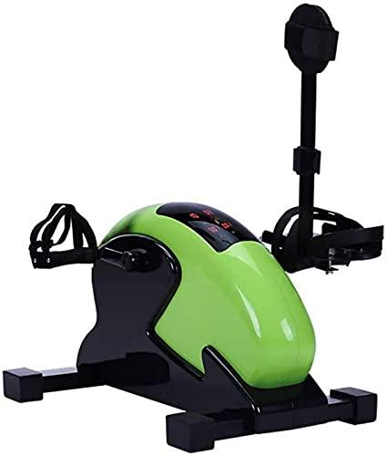 LCJD Ejercitador de Pedal para Bicicleta de Ejercicios de rehabilitación - Máquina de pedalear para Ejercicios de pie, Mano, Brazo y Pierna portátil Plegable - Mini Pedal Plegable para Bicicleta