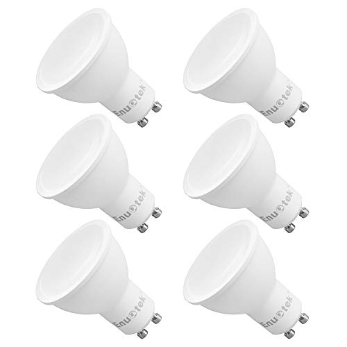GU10 LED Schienensystem Lampen Leuchtmittel Dimmbar 7W 650Lm 120° Groß Beleuchtungswinkel Kaltweiß 5000K AC220~240V Trailing Edge Dimmbar Ersatz 60W Halogen 6er Pack von Enuotek