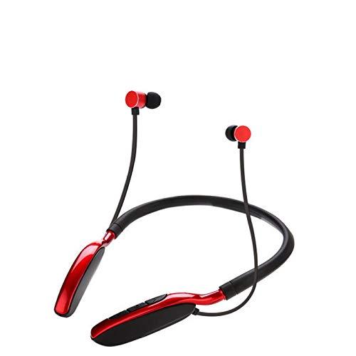 boxiangxu Cuello deportivo inalámbrico colgante cuello absorción magnética bluetooth auricular enchufe en auriculares de dibujos animados