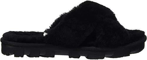 UGG Women's Fuzzette Slipper, Black, 9