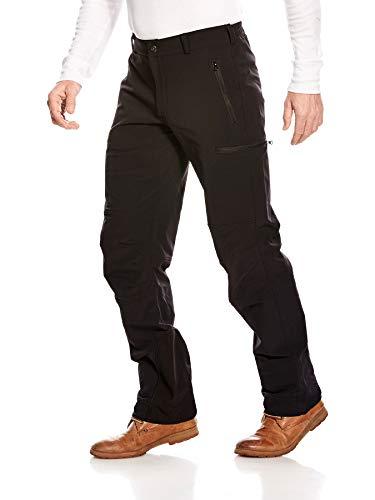 Tatonka Bowles M's Pants - regenfeste Softshell Hose mit Seitentaschen - robust und bequem - Herren - Größe 52 - Regular Fit - PFC-frei - schwarz