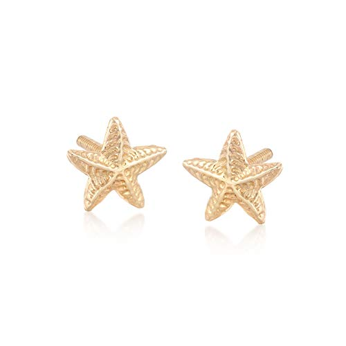 Ross-Simons Child's 14kt Yellow Gold Starfish Stud Earrings