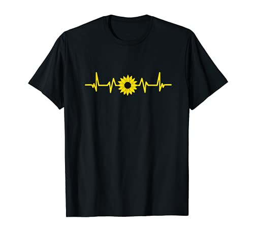 Gärtner Heartbeat - Abono para jardín con girasol Camiseta