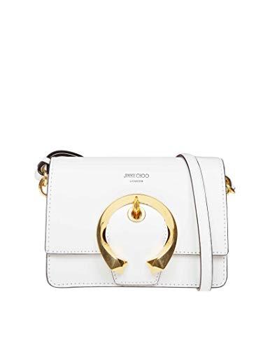 Jimmy Choo Luxury Fashion Donna MADELINESTRMLATTE Bianco Borsa A Spalla   Autunno Inverno 19