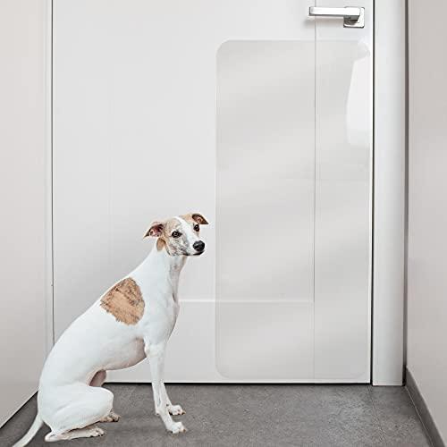 PROTECTO Kratzschutz für Türen – Hund & Katze Kratzschutz – 90 x 40 cm strapazierfähige Abdeckung, die Tiere daran hindert an Möbeln zu kratzen – Groß, Robust & Durchsichtig