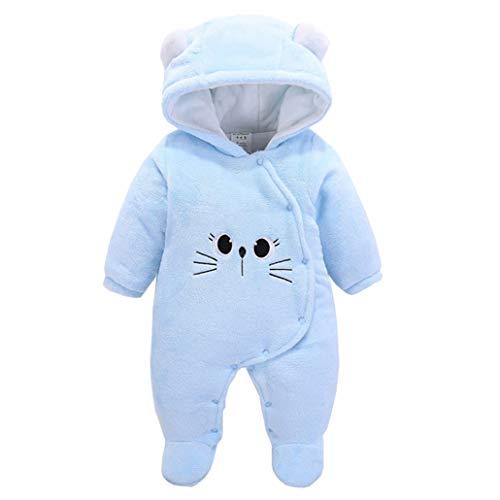 Runuo Mameluco De Bebé Recién Nacido,Mono de bebé Traje de Nieve Ropa Interior de Invierno para niños pequeños
