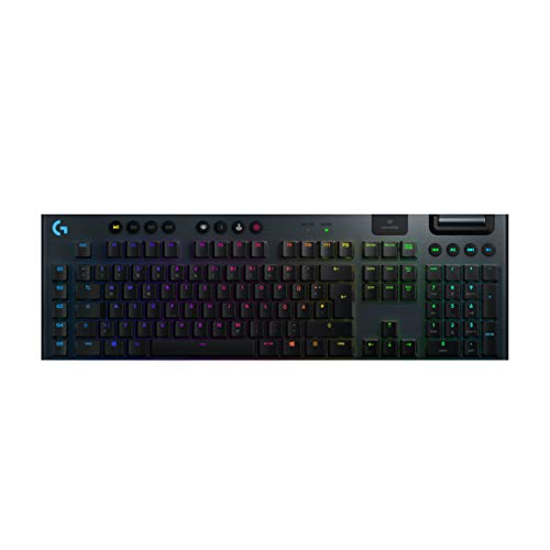 Logitech G915 LIGHTSPEED kabellose mechanische Gaming-Tastatur, Taktiler GL-Tasten-Switch mit flachem Profil, LIGHTSYNC RGB, Ultraschlankes Design, 30+ Stunden Akkulaufzeit, Wireless Verbindung