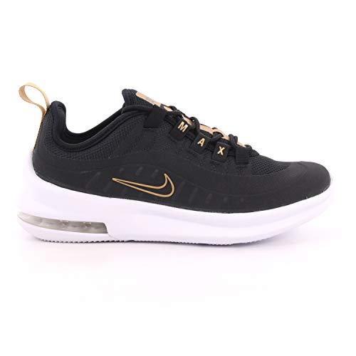 Nike Mädchen AIR MAX AXIS VTB (GS) Traillaufschuhe, Mehrfarbig (Black/Black-White-Metallic Gold 001), 38.5 EU