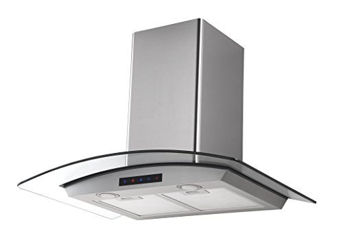 Kitchen Bath Collection 30-inch Wall-mounted Stainless Steel Range Hood with Arched Tempered...