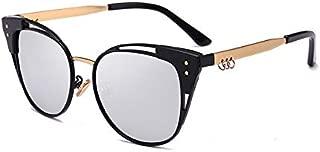 Sunglasses Fashion Accessories High-Quality Fashion Polarized Sunglasses Big Box Car Driving Mirror Classic (Color : Silver)