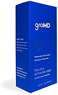 GroMD Follicle Activator Spray, Minimize Thinning & Prevent Hair Loss, Doctor-Developed Proprietary Blend of DHT Blockers, Copper Peptides, Saw Palmetto, Caffeine & Argan Oil, For Men & Women