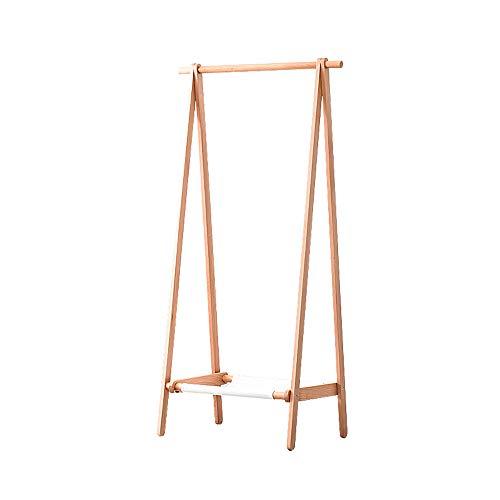 BLWX - houten garderobe, massief houten garderobe vloer kledinghanger slaapkamer kledingstandaard woonkamer foyer creatieve kleerhangers Optioneel grootte kledingrek