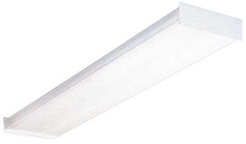 Lithonia Lighting Fluorescent Square 2 lamp, 4 feet, 120V Wraparound Light, 32W T8