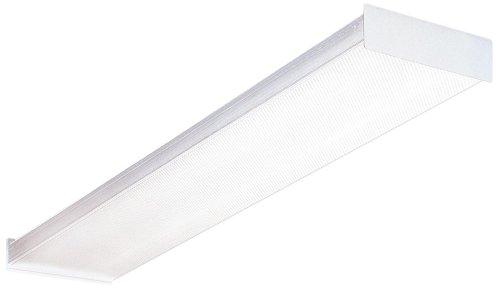 Lithonia Lighting Fluorescent Square 2 lamp, 4 feet, 120V Wraparound Light, 32W T8