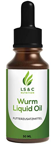 LS&C Nutrition Worm Liquid Oil for Dogs and Cats Liquid, Worm Treatment 50 ml