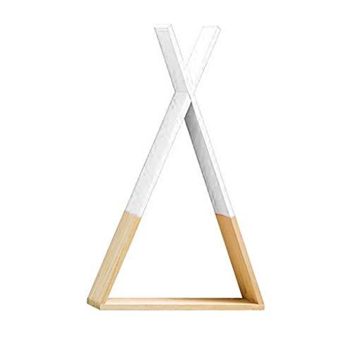 Nordischer Stil Baby Dreieck-Regal aus Holz zum Aufhängen an der Wand Trigon Storage Bücherregal Home Kids Baby Room DIY Dekoration Geschenk weiß