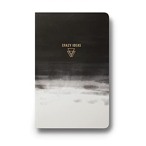 """Blocos de anotações Denik, capa macia Layflat Journals, 13,5"""" x 8,25"""" com 144 páginas, Crazy Ideas, Lined"""