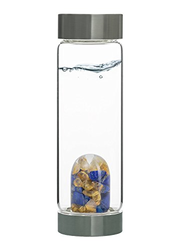 Vitajuwel flessen met Ge MPod kristallen edelsteen gevuld Bohemian glas GE mwater glazen fles - verbetert de structuur van het drinkwater Inspiration