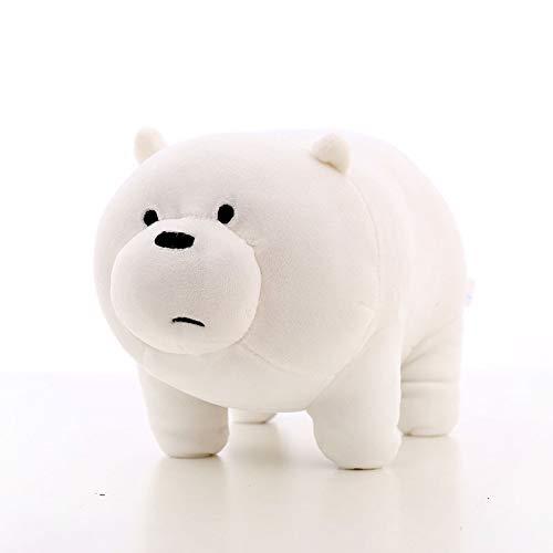 ULIN 50CM Juguete de Peluche We Bare Bears Peluches Oso de Dibujos Animados Relleno Grizzly Panda Dolls Niños (C, 35CM)