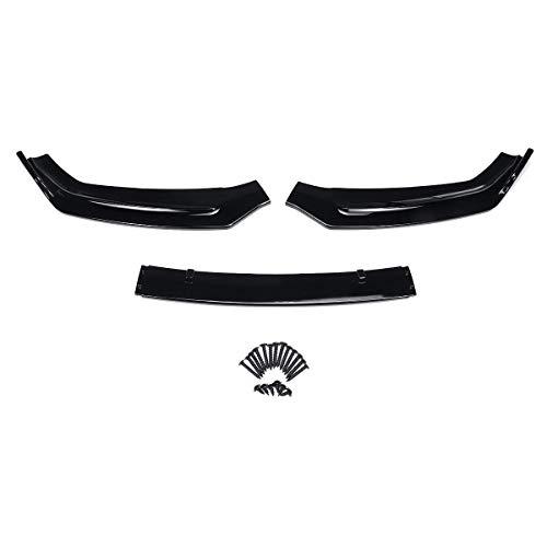 MADAENMJ 3 Piezas Negro Brillante/Aspecto De Fibra De Carbono Parachoques Delantero De Coche, Alerón, Divisor, Cubierta De Protección para Audi A5 B9 2017 2018 2Dr / 4Dr (Color: Fibra De