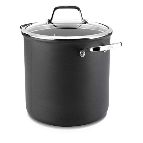 All-Clad B1 E8007964 Nonstick Hard Anodized Induction 8 Qt Stockpot with Glass Cover