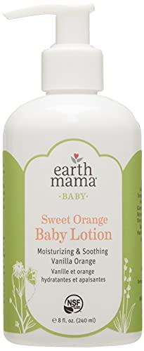 Earth Mama Sweet Orange Baby Lotion with Organic Calendula, 8-Fluid Ounce