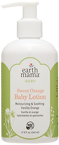 Earth Mama Sweet Orange Baby Lotion with Organic Calendula, 8-Fluid Ounce