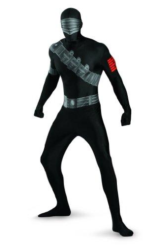 Snake Eyes Deluxe Bodysuit Costume,Black,X-Large/42-46