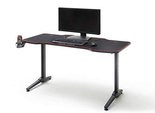 Robas Lund Gaming Tisch DX Racer 3  Gaming Desk Schwarz Carbonlook, BxHxT 140x75x65 cm
