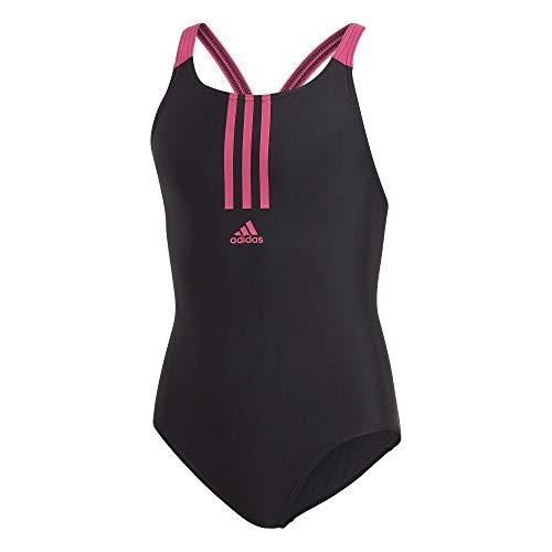 adidas Mädchen Badeanzug Fit, Black/Real Magenta, 140, FL8677